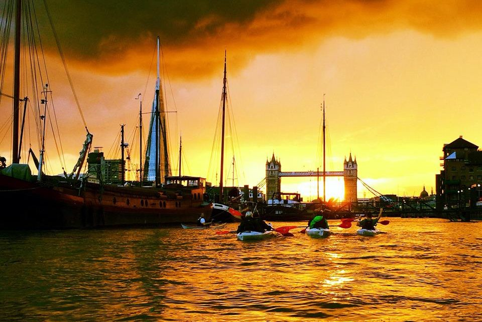 Kayak Along The Thames After Dark