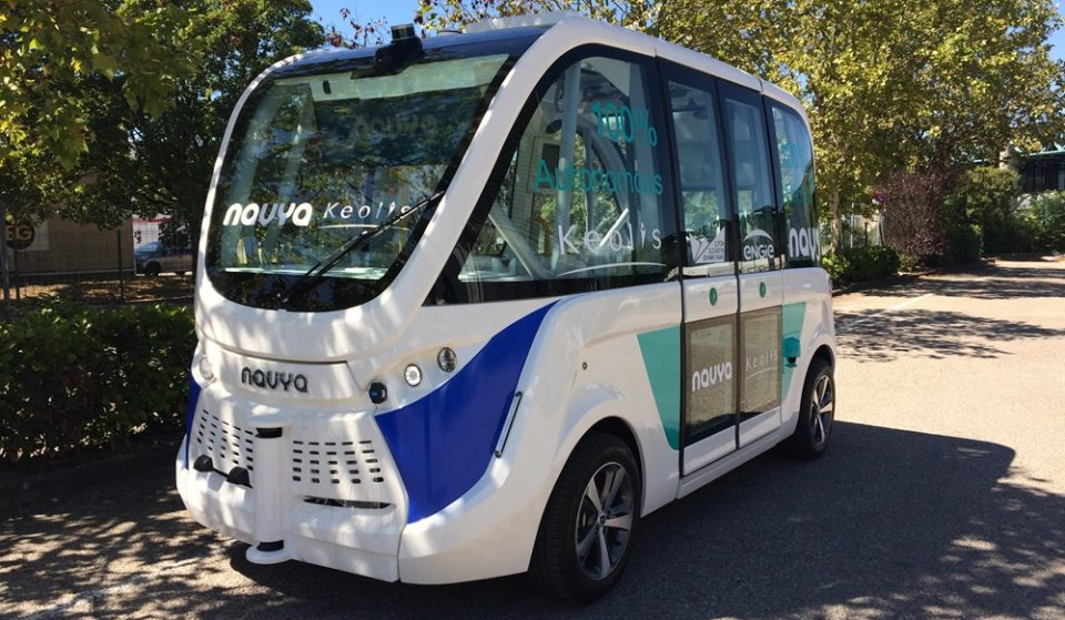 A Driverless Mini Bus Is Going Around London's Olympic Park And You Can Hop On For Free