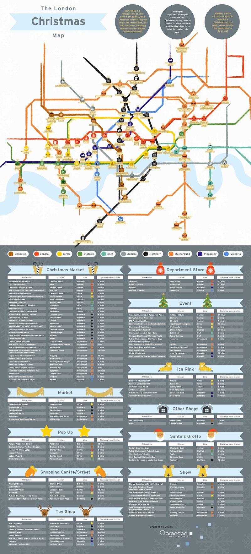 Christmas Tube Map
