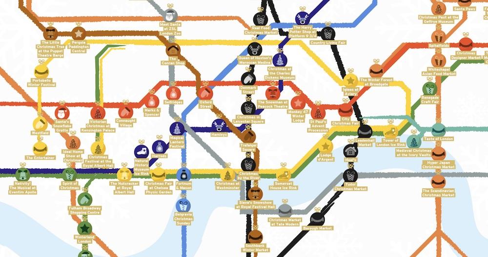 Christmas Tube Map London