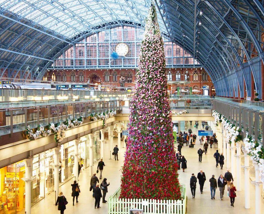 St Pancras Station Christmas Tree
