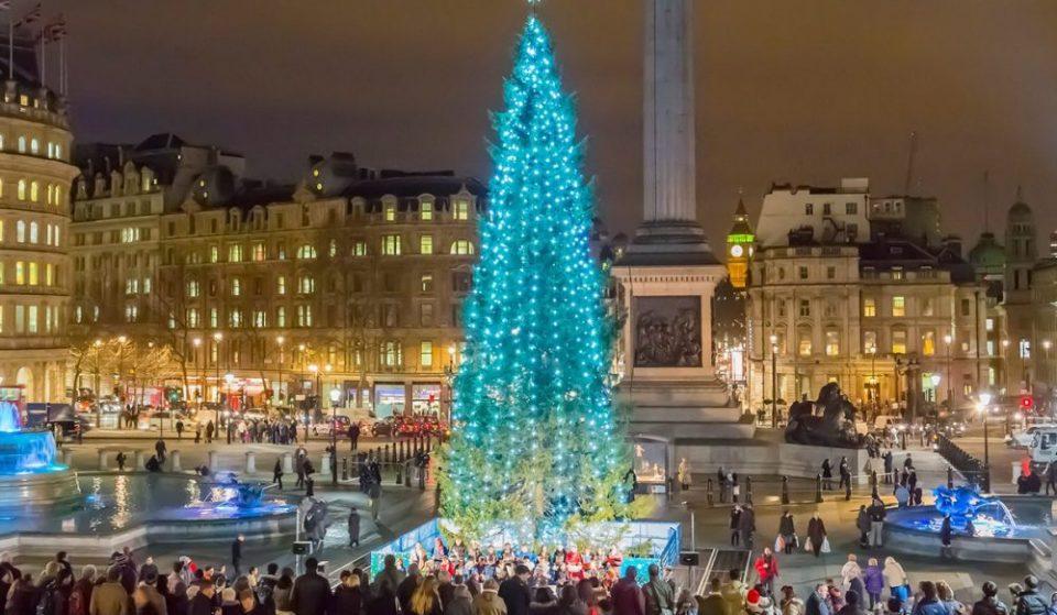 Trafalgar Square's Famous Christmas Tree Is Lighting Up Tonight