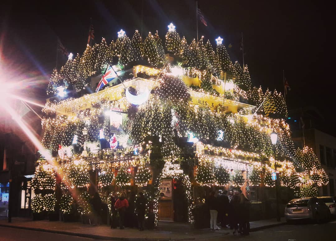 Churchill Arms Has Switched On Its Epic Christmas Lights Display