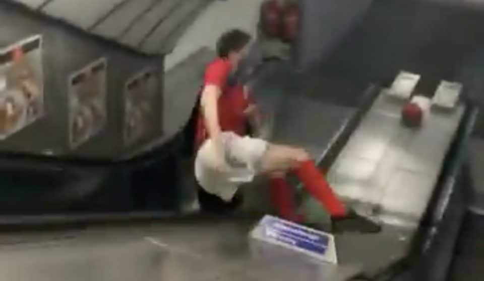 Man Slides Down Tube Escalator In Most Painful Six Seconds Of 2017