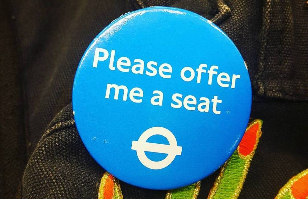 Those 'Please Offer Me A Seat' Badges Are Really Working, Which is Nice