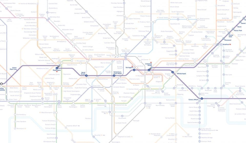 Here's What The Tube Map Will Look Like When The Elizabeth Line Opens This Year