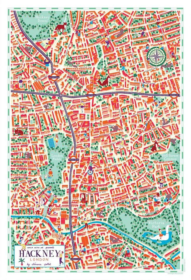 Illustrated Map of Hackney