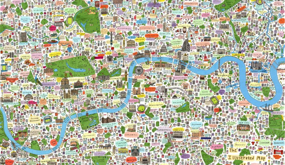 9 Gorgeously Illustrated London Maps For People Who Are Always Getting Lost