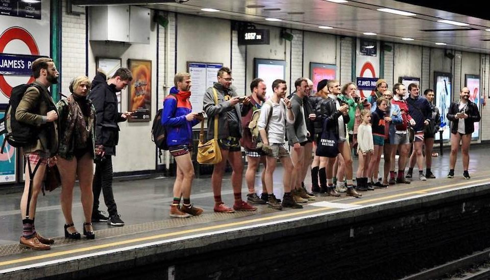 London's Annual 'No Trousers Tube Ride' Is Back In January