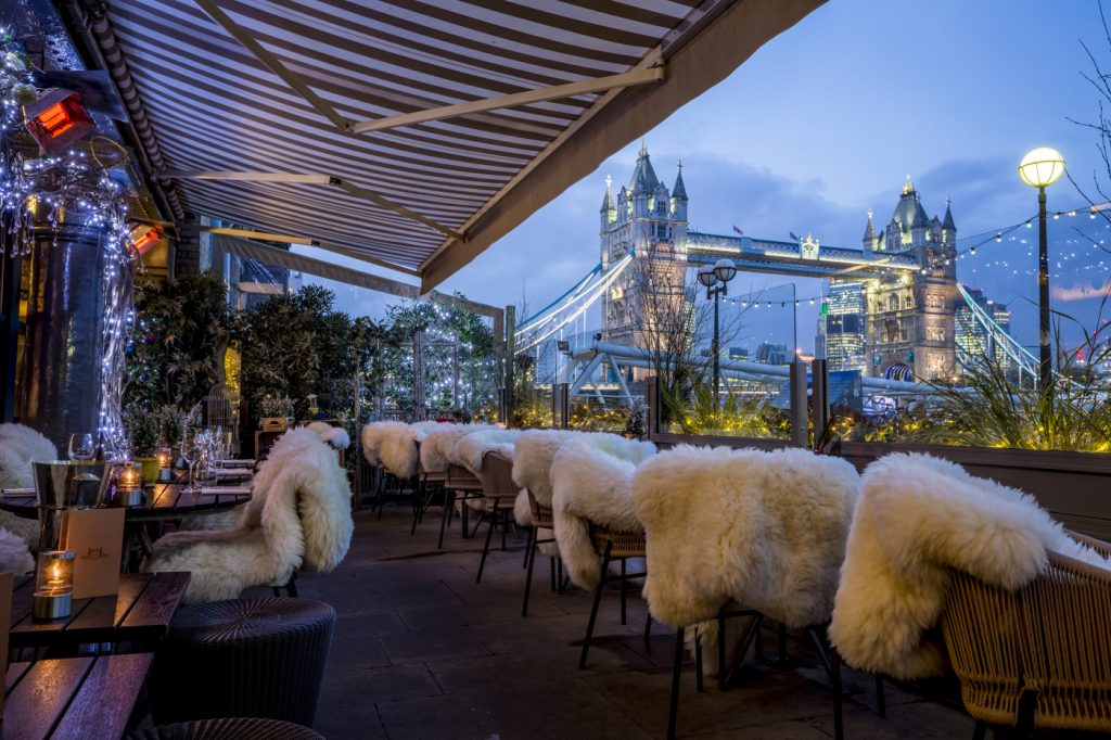Enjoy Fondue And Champagne On A Cosy Winter Terrace By The Thames