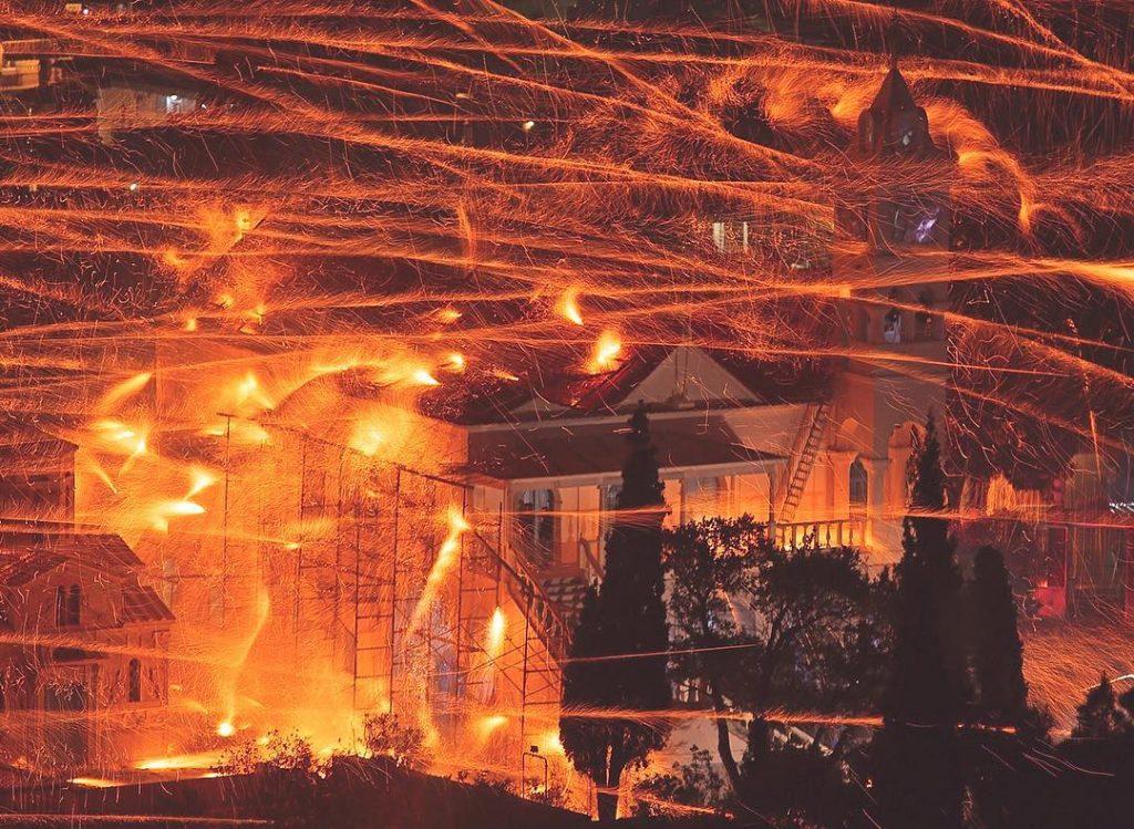 Rouketoplemos Rocket War Fireworks Greece
