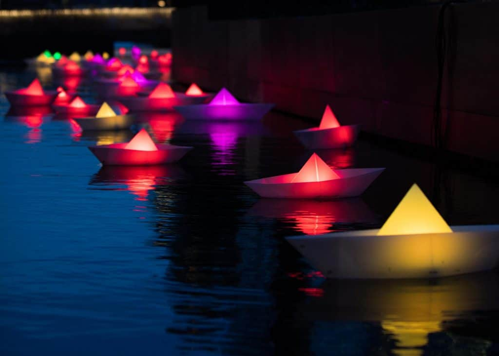 Illuminated Origami Boats Will Float Along Regent's Canal This Month