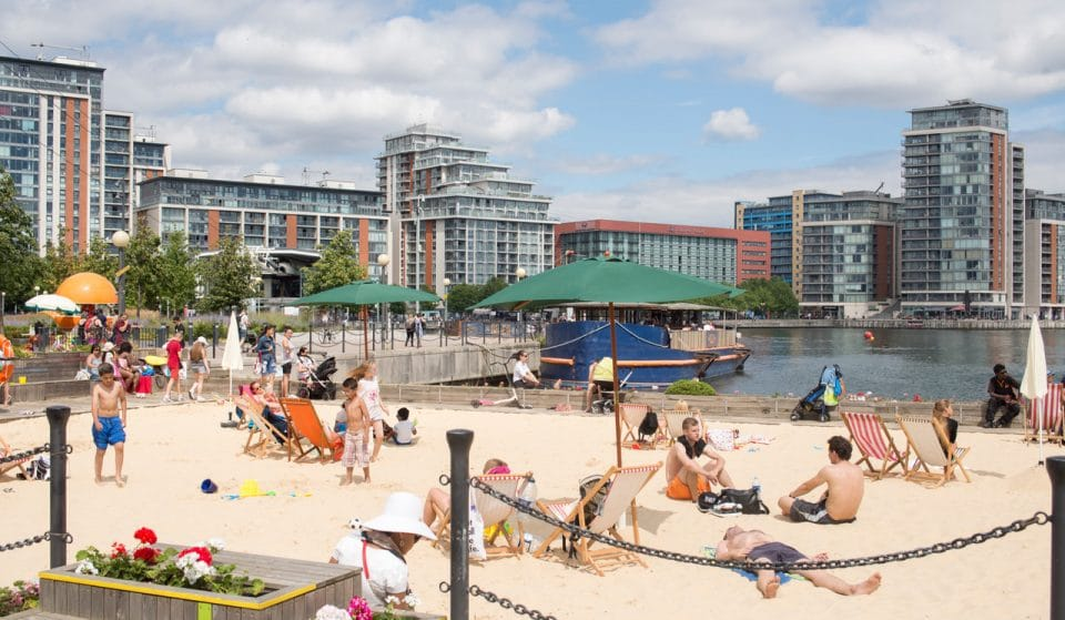 The Docklands' Urban Beach Is Returning For Summer 2018