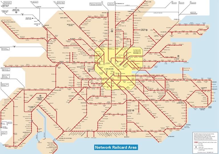 Network Railcard Map