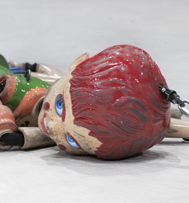 Jordan Wolfson, Coloured Sculpture, Press Image, Tate Modern, 2018