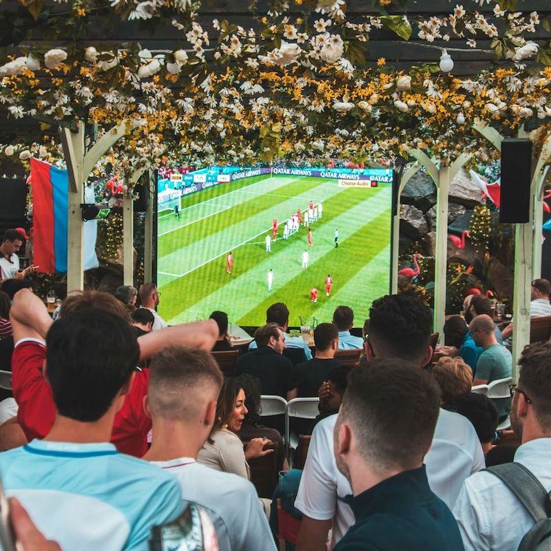 Outdoor world cup screenings in London