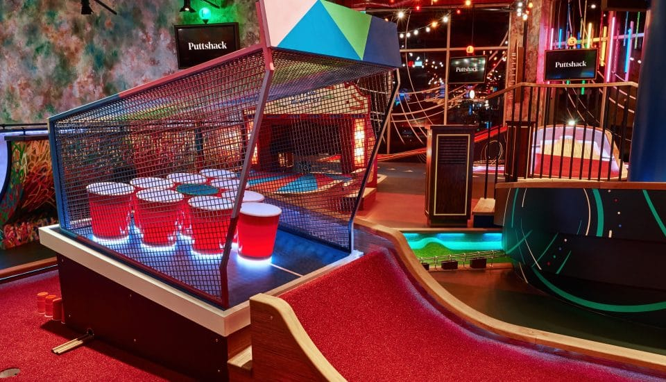 A Hi-Tech Mini Golf Course Joins Westfield London's Extension, Along With A Fancy New Bowling Alley