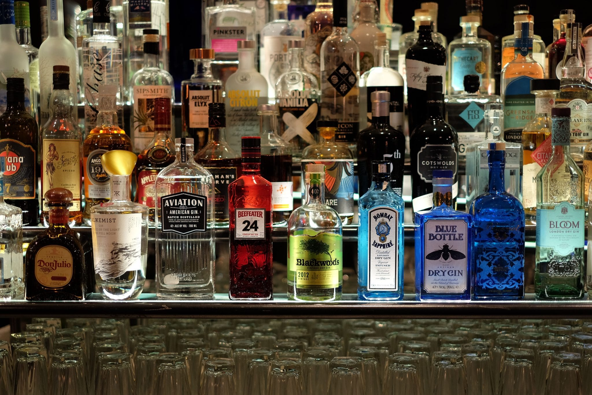 Gin hotel bar with 100 different gins