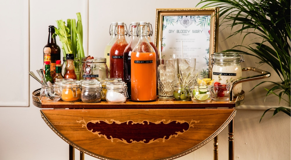 This Sassy London Cocktail Bar Lets You Make Your Own Bloody Marys • Little Bat