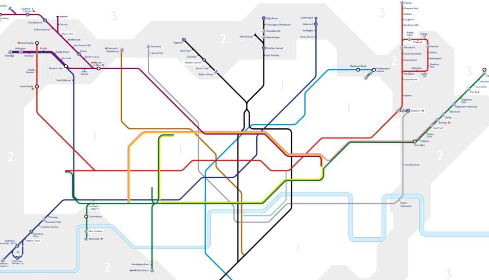 This Shocking Tube Map Will Show You Just How Unaffordable London Really Is
