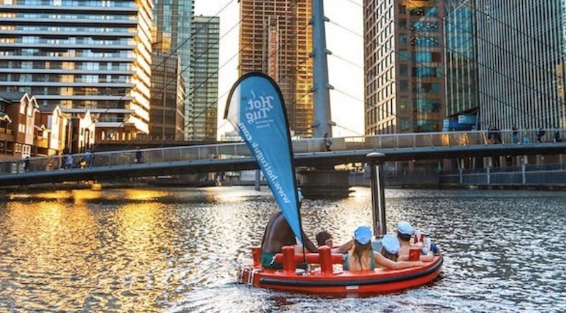 London's Amazing Floating Hot Tubs Have A Second Home In West India Quay