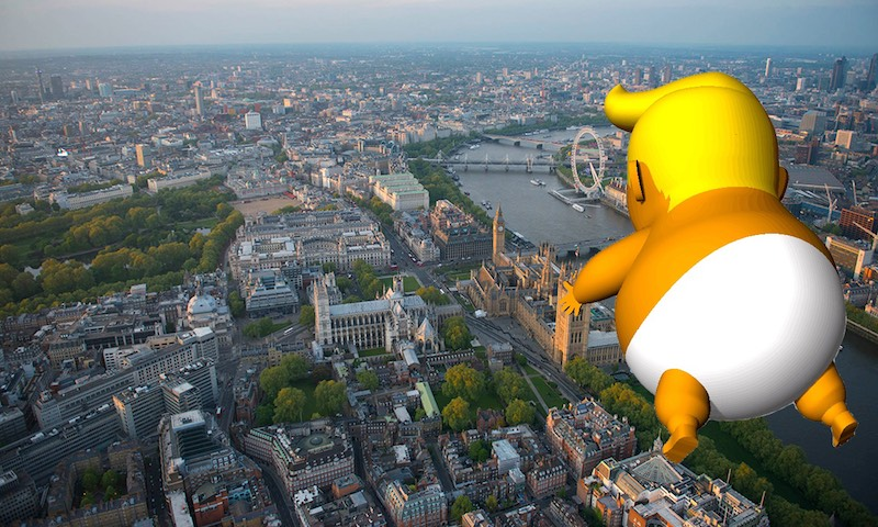 London Trump Protest Baby