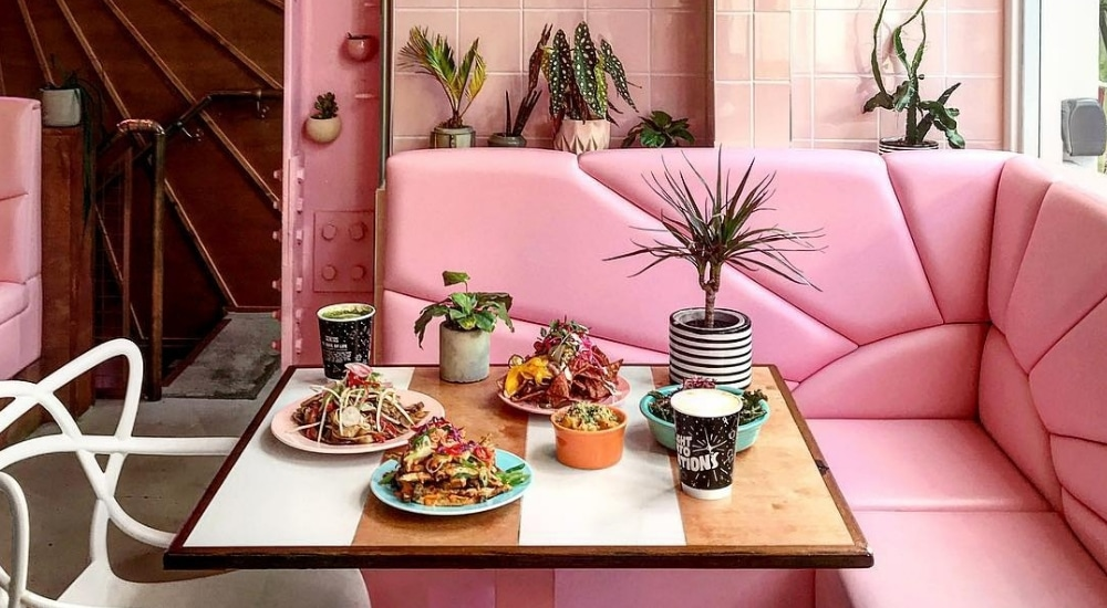 Genesis The Pastel Pink Vegan Restaurant That Serves Dishes From Around The World