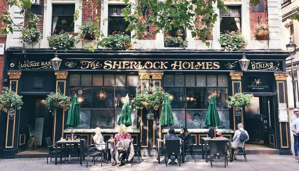 The London Pub With A Replica Of Sherlock's Baker Street Flat • The Sherlock Holmes Pub