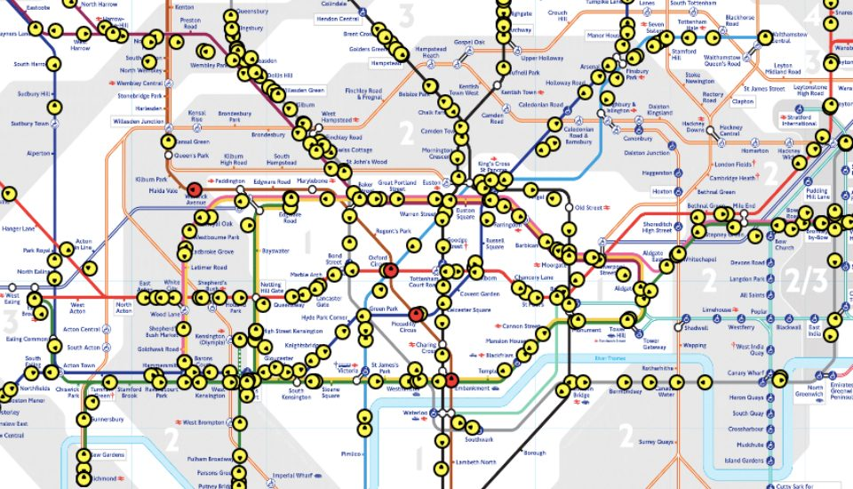 This Live Tube Map Will Show You Exactly Where All Of The Trains Are Right Now