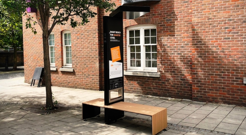 London Now Has Solar-Powered Benches With Free Charging Points And Wifi