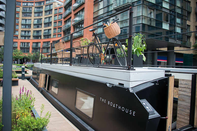 This Sexy Houseboat Is London's Loveliest Floating Hotel • The Boathouse