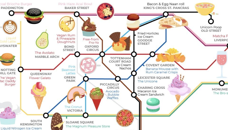 This Map Will Help You Find All Of London's Weird And Wonderful Food Trends