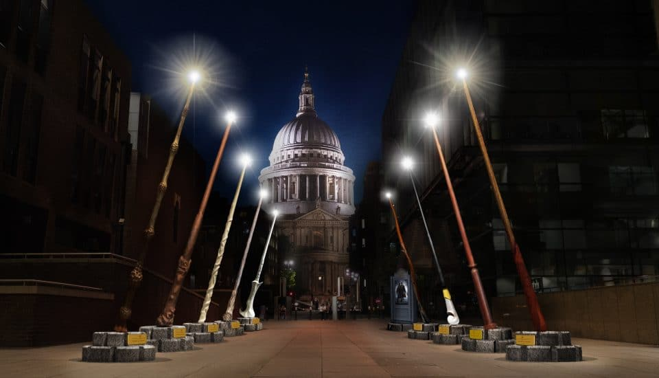 Giant Harry Potter Wands Will Shine On St Paul's Cathedral For A Whole Month