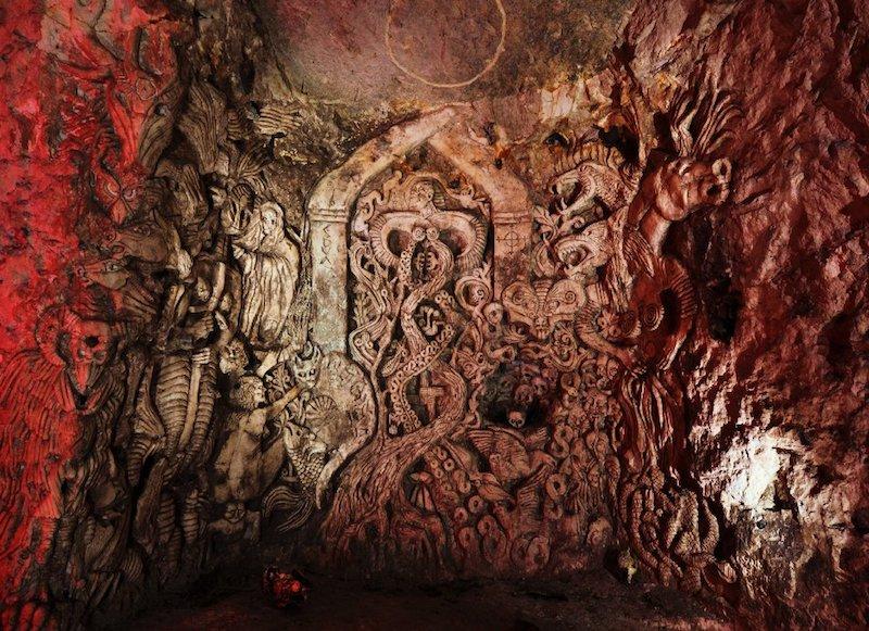 Chislehurst Cave Carving
