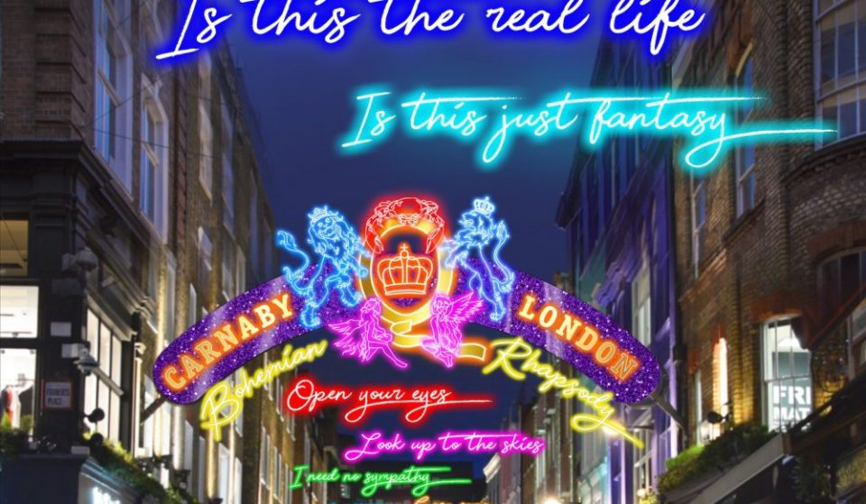 Carnaby Street Will Unveil A Neon-Lit Tribute To Queen This Weekend