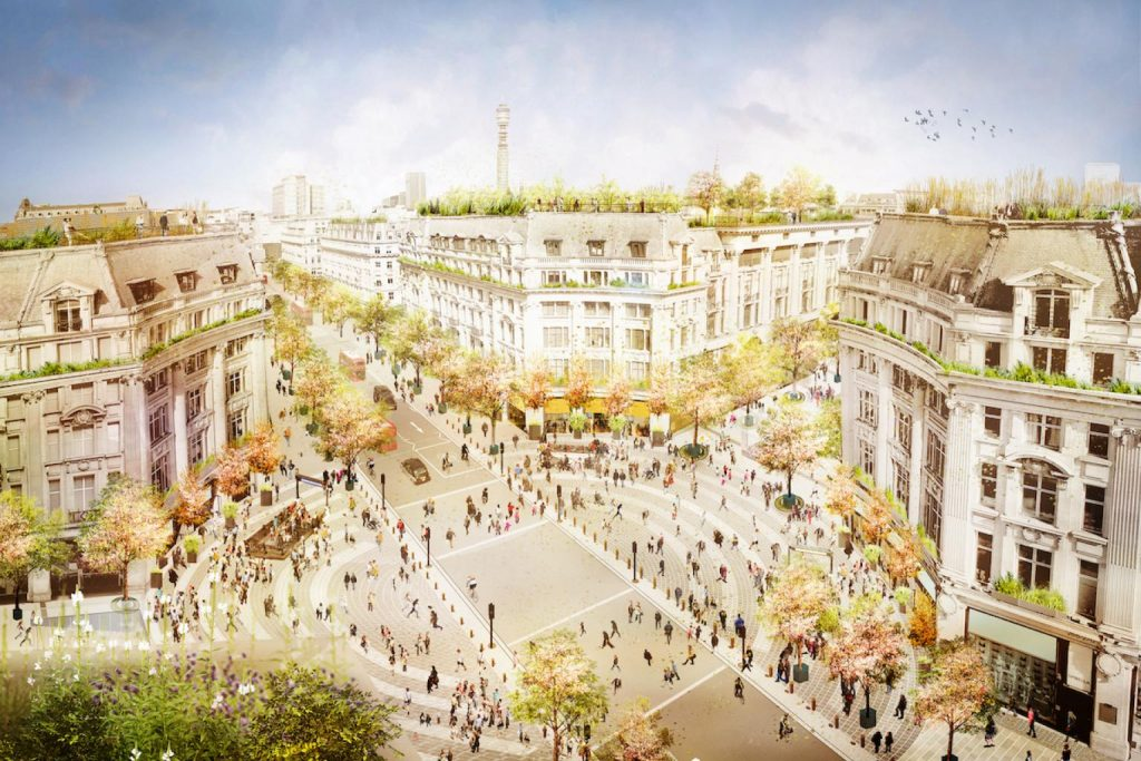 Artist's impression of the Oxford Street redevelopment, planned for later in 2021.