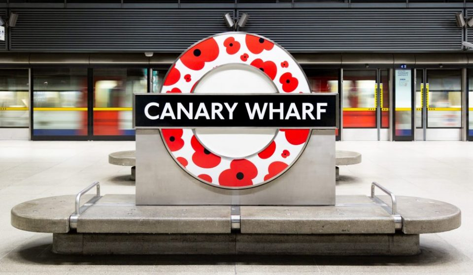TfL Is Covering The Underground In Poppies In Honour Of Remembrance Day