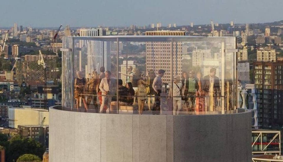A Great Glass Lift Will Take You Up One Of Battersea Power Station's Chimneys