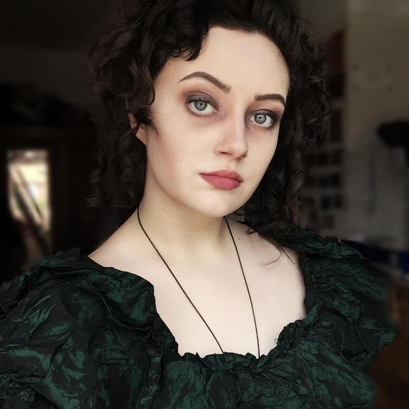 Mrs Lovett costume makeup
