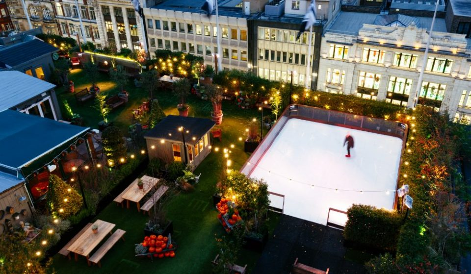 London's Cute Rooftop Skating Rink Opens Above Oxford Street This Week