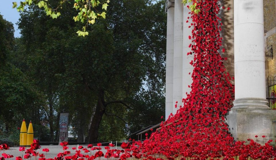 This Beautiful Cascade Of Poppies Is Now In Place At The Imperial War Museum