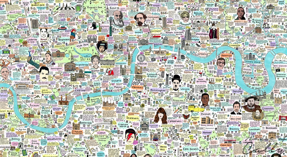 This Illustrated Map Of London Will Teach You Something New With Every Glance