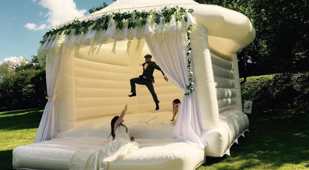 Wedding Bouncy Castles Are A Thing And We're Completely Head Over Heels For Them