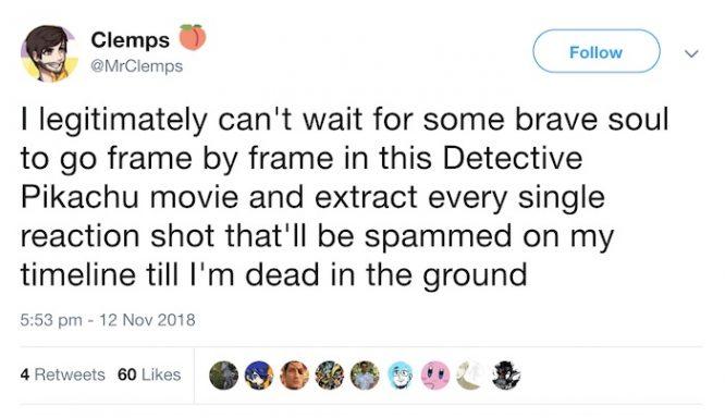Detective Pikachu reaction