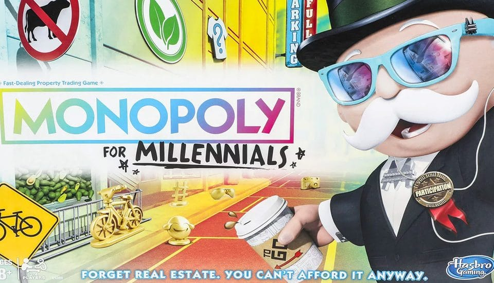 'Millennial Monopoly' Is Now A Real Product, Because We're All Too Poor To Afford Houses