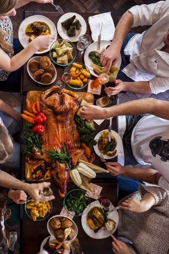 Suckling pig roast london
