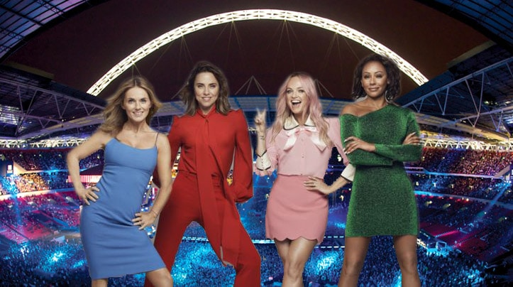 spice girls tour london