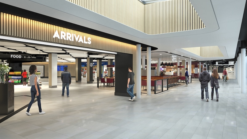 More of the new arrivals hall.