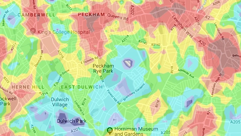 This Map Reveals All Of London's Best And Worst Areas For Public Transport