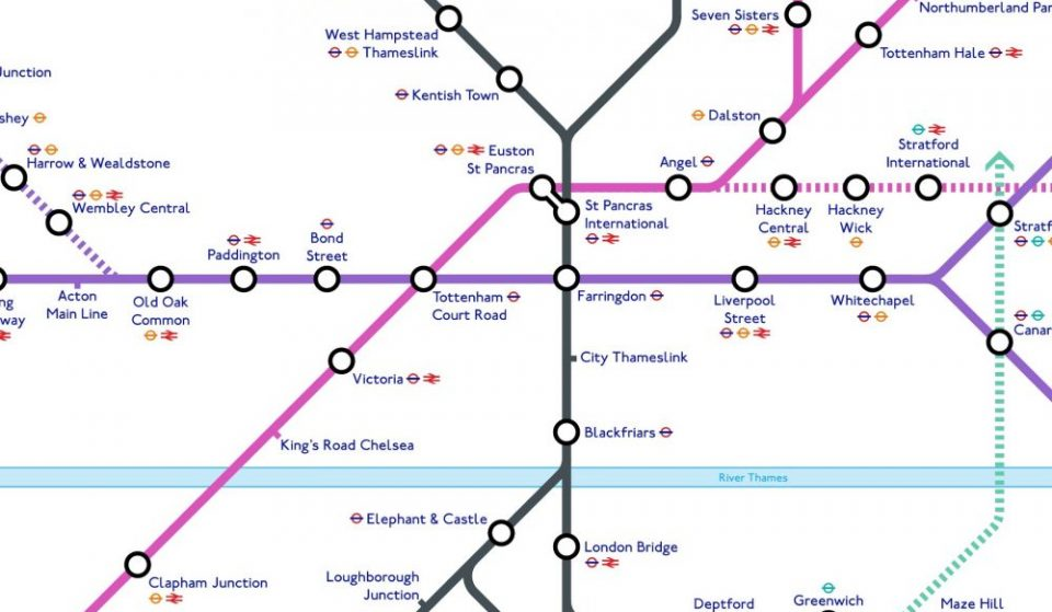 This Fascinating Tube Map Predicts The Future Of Crossrail